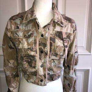 DaNang silk blend camouflage jacket